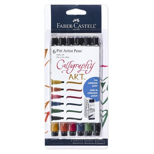 Faber-Castell - Pitt Artist Pens - Calligraphy - Multi Color 6ct