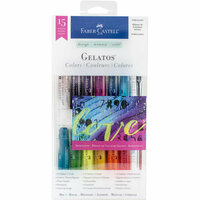 Faber-Castell - Mix and Match Collection - Color Gelatos - Iridescent - 15 Piece Set