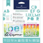 Faber-Castell - Mix and Match Collection - Mixed Media Stencils - Lettering