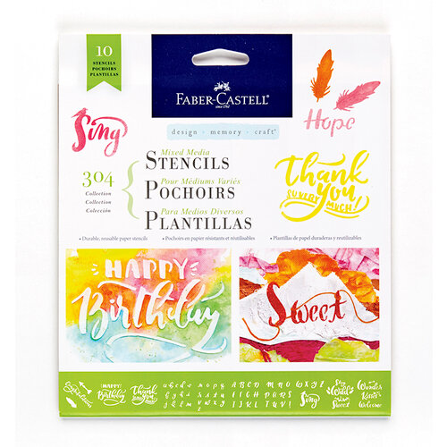 Faber-Castell - Mixed Media - Stencils - 304 Collection