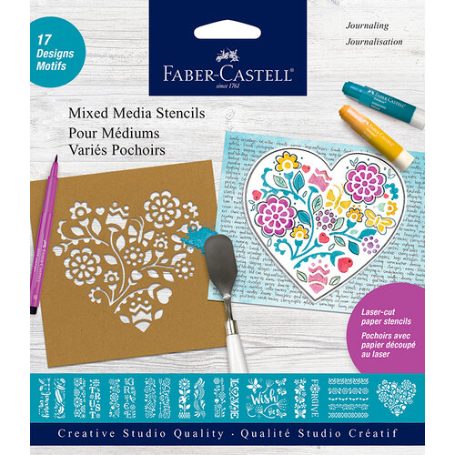 Faber-Castell - Mixed Media - Stencils - Journaling