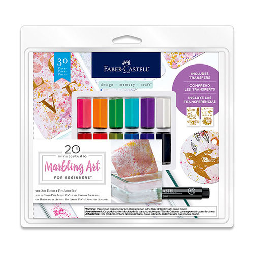 Faber-Castell - Mix and Match Collection - Kit - Marbling Art for Beginners