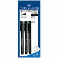 Faber-Castell - Pitt Artist Pen - Calligraphy - 199 - Black - 3 Pack