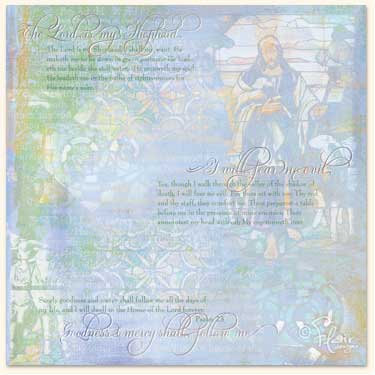 Flair Designs - Amazing Grace Collection - 12x12 Paper  - The Good Shepherd, CLEARANCE