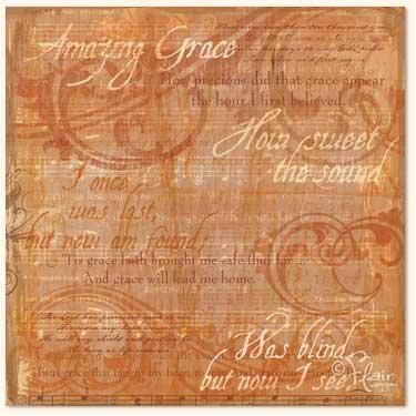 Flair Designs - Amazing Grace Collection - 12x12 Paper  - Amazing Grace