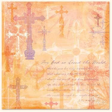 Flair Designs - Amazing Grace Collection - 12x12 Paper  - On This Cross, CLEARANCE