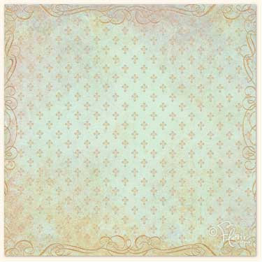 Flair Designs - Amazing Grace Collection - 12x12 Paper  - Cross Print Aqua, CLEARANCE