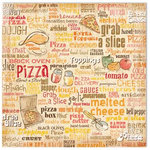 Flair Designs - Keep on Cooking Collection - 12x12 Paper - Pizza Party