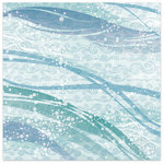 Flair Designs - Summer Daze Collection - 12 x 12 Paper - Cool Waters, CLEARANCE
