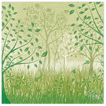 Flair Designs - Summer Daze Collection - 12 x 12 Paper - A Walk In The Park, BRAND NEW