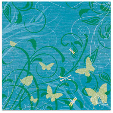 Flair Designs - Summer Daze Collection - 12 x 12 Paper - Flutter By, CLEARANCE