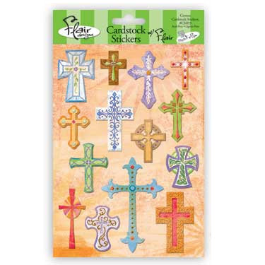 Flair Designs - Amazing Grace Collection - Cardstock Stickers - Crosses, CLEARANCE