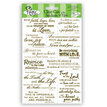 Flair Designs - Amazing Grace Collection - Clear-Cut Stickers - Scripture Quotes