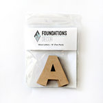 Foundations Decor - Wood Crafts - Wood Letters - A