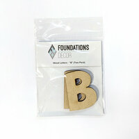 Foundations Decor - Wood Crafts - Wood Letters - B