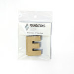 Foundations Decor - Wood Crafts - Wood Letters - E