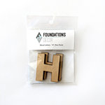 Foundations Decor - Wood Crafts - Wood Letters - H
