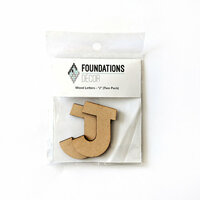 Foundations Decor - Wood Crafts - Wood Letters - J