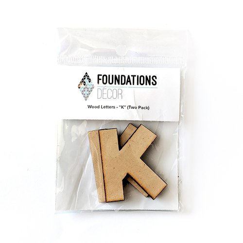 Foundations Decor - Wood Crafts - Wood Letters - K