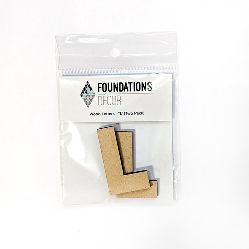 Foundations Decor - Wood Crafts - Wood Letters - L