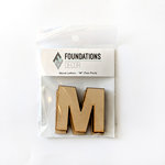 Foundations Decor - Wood Crafts - Wood Letters - M