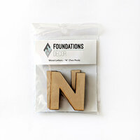 Foundations Decor - Wood Crafts - Wood Letters - N