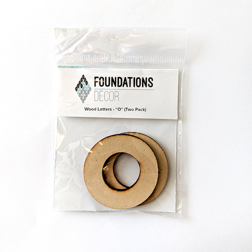Foundations Decor - Wood Crafts - Wood Letters - O