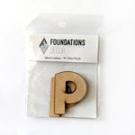 Foundations Decor - Wood Crafts - Wood Letters - P