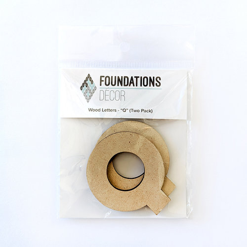 Foundations Decor - Wood Crafts - Wood Letters - Q