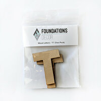 Foundations Decor - Wood Crafts - Wood Letters - T