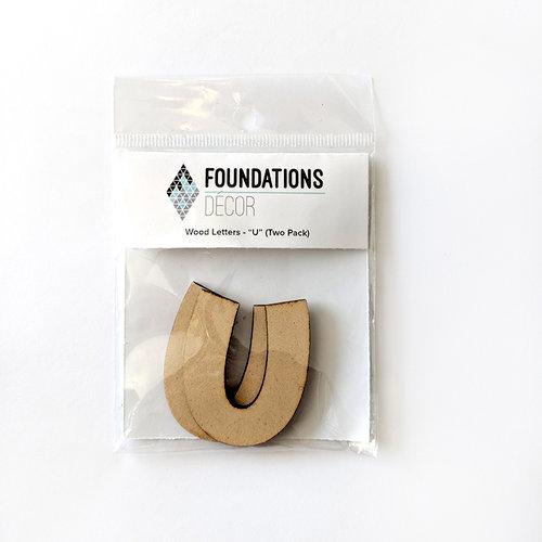 Foundations Decor - Wood Crafts - Wood Letters - U