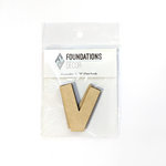 Foundations Decor - Wood Crafts - Wood Letters - V