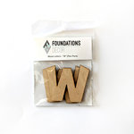 Foundations Decor - Wood Crafts - Wood Letters - W