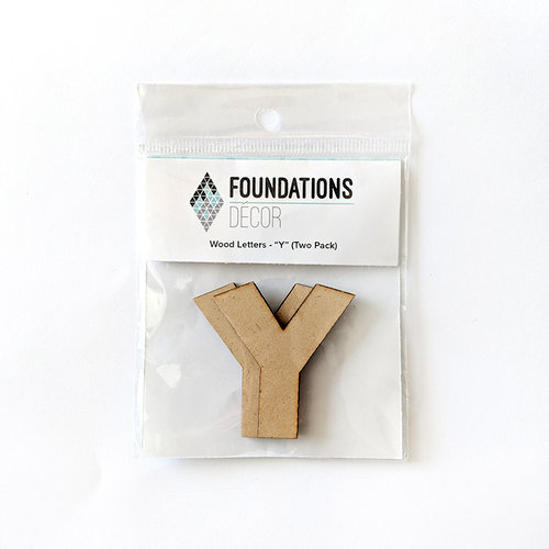 Foundations Decor - Wood Crafts - Wood Letters - Y