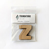 Foundations Decor - Wood Crafts - Wood Letters - Z