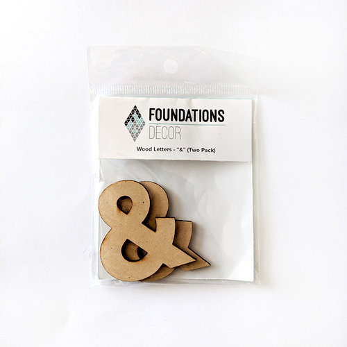 Foundations Decor - Wood Crafts - Wood Letters - Ampersand