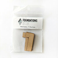 Foundations Decor - Wood Crafts - Wood Numbers - 1
