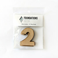 Foundations Decor - Wood Crafts - Wood Numbers - 2