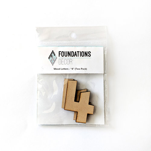 Foundations Decor - Wood Crafts - Wood Numbers - 4