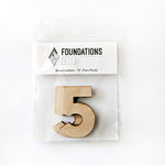 Foundations Decor - Wood Crafts - Wood Numbers - 5