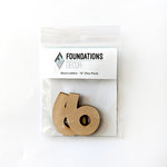 Foundations Decor - Wood Crafts - Wood Numbers - 6