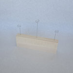 Foundations Decor - Wood Crafts - Picture Holder - Block and 3 Photo Wires