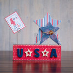 Foundations Decor - 4th of July Collection - Wood Crafts - Picture Holder - July Complete Set