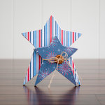 Foundations Decor - 4th of July Collection - Wood Crafts - July Stars