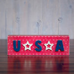 Foundations Decor - 4th of July Collection - Wood Crafts - Word - USA