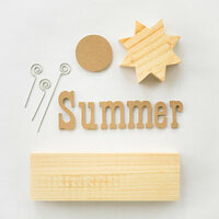 Foundations Decor - Summer Collection - Wood Crafts - Picture Holder - Summer Complete Set