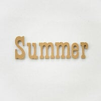 Foundations Decor - Summer Collection - Wood Crafts - Word - Summer