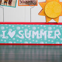Foundations Decor - Summer Collection - Vinyl - I heart SUMMER