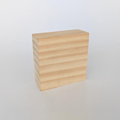 Foundations Decor - Wood Crafts - Block - 3 x 3