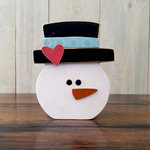 Foundations Decor - Home Collection - Wood Crafts - January - Snowman